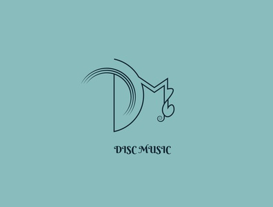 Disc Music Branding flat illustration logodesign logo identitydesign design branding brandidentity brand