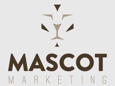 Mascot Dribbble logo mascot marketing brown lion cat animal marketing