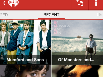 Iheart recent screen