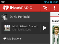 Iheart drawer screen