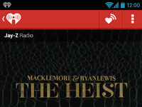 Iheart media player screen