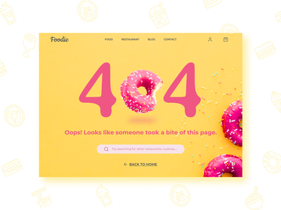 404 Page - Food Delivery website donut 008 error page error 404 404 error page ui design webdesign uidesign design dailyuichallenge dailyui restaurant food delivery food app page error 404 error 404 page 404page 404