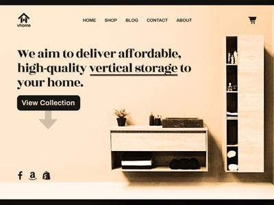 VHOME - Vertical Storage Website UI home vertical storage storage ui designs web design duotone monotone flat minimalist app call to action ui design figma website landing page hero section design branding ui minimal