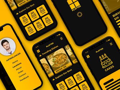 PLATTER - Mobile App UI Design Food iphone ios android app design icon ui web ios guide mobile app mobile app designer app designers designer design app designer abstract food minimal app uidesign mobile app design app design ui ux design ui design ui