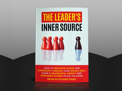 THE LEADER'S INNER SOURCE design 3d art 3d mockup black  white black chess abstract typogaphy red kindle amazon book cover books book cover artwork cover design cover art covers cover