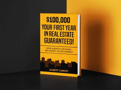 REAL ESTATE MONEY Book Cover Design yellow books book cover design amount price bold guaranteed market agents dollar home house silhouettes silhoutte silhouette real estate realestate money book cover book
