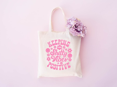 Tote bag design 70s retro handlettering illustration typography clothing merch tote bag graphic design lettering lettering art