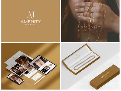 Amenity Jewelry logoprocess typography ux ui modernlogo dailylogo unitylogo dailylogochallenge logonew logotype logofolio design illustration logo designer logodesign graphic design branding