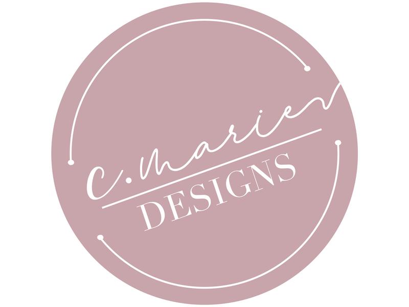 C. Marie Designs Logo logo designer logo design logodesign personal brand logo