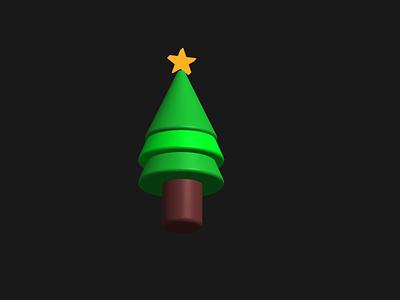 3D X mas tree