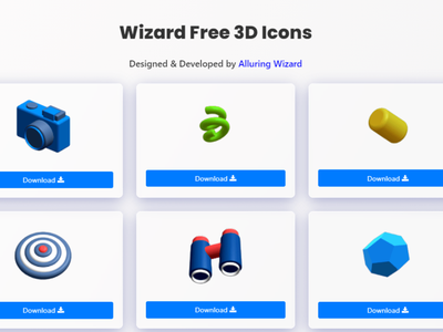 Wizard free 3D icons