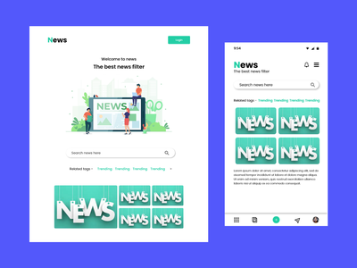 news filter web app