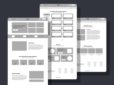 high fidelity wireframe for ecommerce website