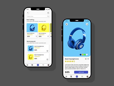 ecommerce app design   mockups