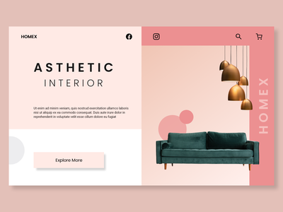 furniture ecommerce design concept