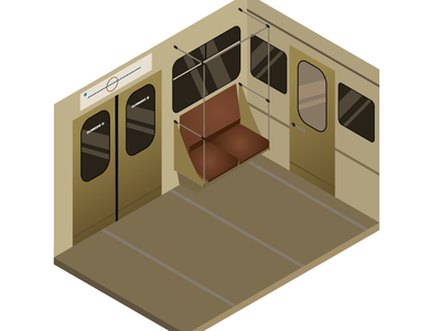 The car of the Moscow metro Isometric