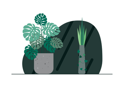 Plants plants vector minimal illustration