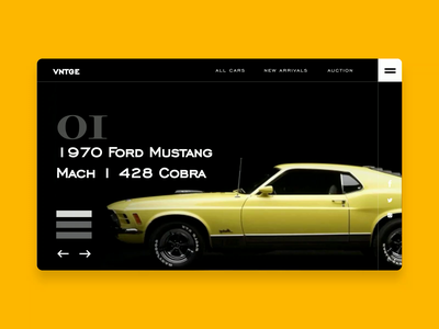 Vintage car shop felix obinna ux web interaction animation cars car auto automobile
