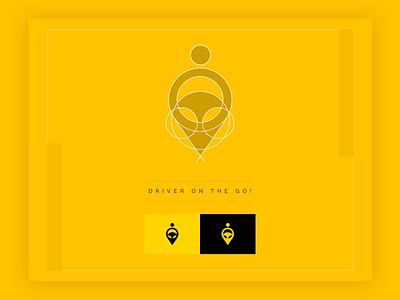 Driver on the Go! Logo ride hailing on demand cab hail logo cab driver