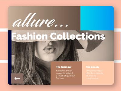 Art and Allure web  design art fashion invision studio invision