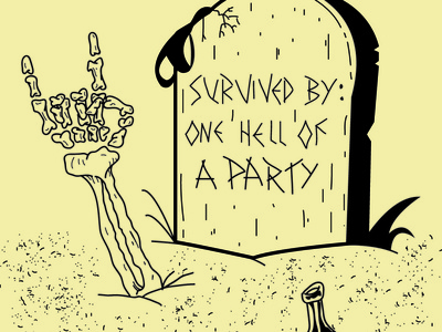 You only live once party death art illustration design