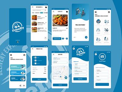 Friendly Delivery App food branding illustration design ui ux delivery app restaurant uiux