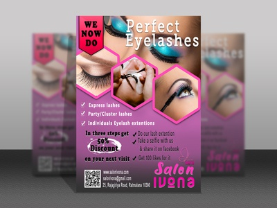 Salon Flyer design eyelash postcard poster photoshop illustration brochure design flyer design brochure flyer