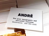 Calling Card printed