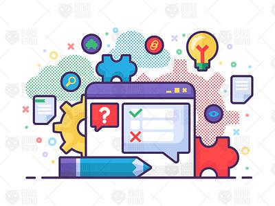 Analytics Concept Illustration vector ui design illustration success analysis business idea program chat app support faq chat bubble test analytics