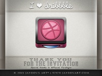 I ♥ dribbble (THANK YOU for THE INVITATION)