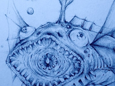 Eyeobrain Fish eyeobrain fish blue eye brain water bubble sketch jaydenart
