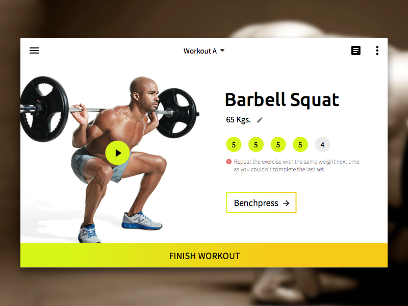 Stronglifts 5X5 by Amit Jaglan on Dribbble