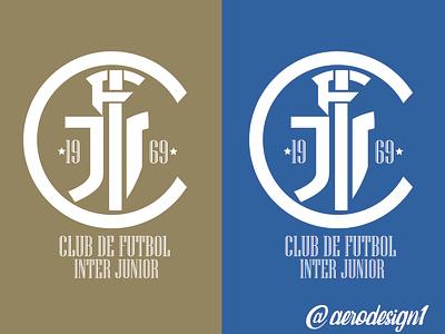 interjunior logo graphic design art illustrator icon vector typography logo illustration design branding