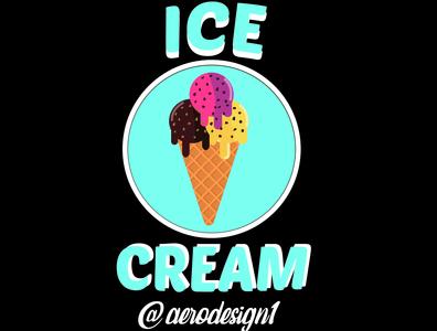 Ice Cream illustrator icon graphic design art vector typography logo illustration design branding