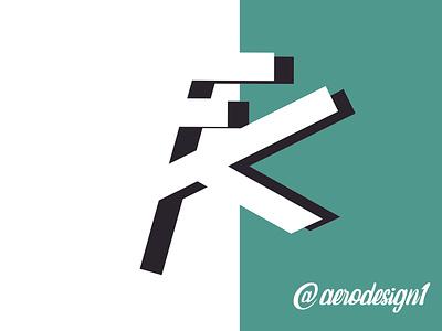 MONOGRAMA  F K website art illustrator graphic design vector typography logo illustration design branding