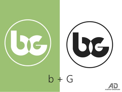MONOGRAMA B G icon illustrator graphic design art vector typography logo illustration design branding
