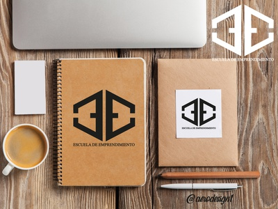 ESCUELA EMPRENDIMIENTO icon illustrator graphic design art vector typography logo illustration design branding