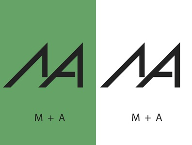 Monograma M + A logotipos mexico digitalart logodesign monogram logo graphic design illustrator typography logo branding design illustration