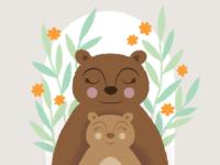 Mama Bear + Cub