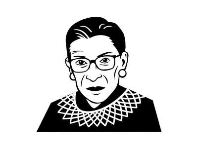 RBG Icon by Lorie Shaull famous face flat icon political icon vector icon icon