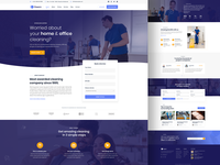 Moppers - Cleaning Company and Services PSD Template