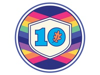 Ten Oaks Project 10th Anniversary Badge