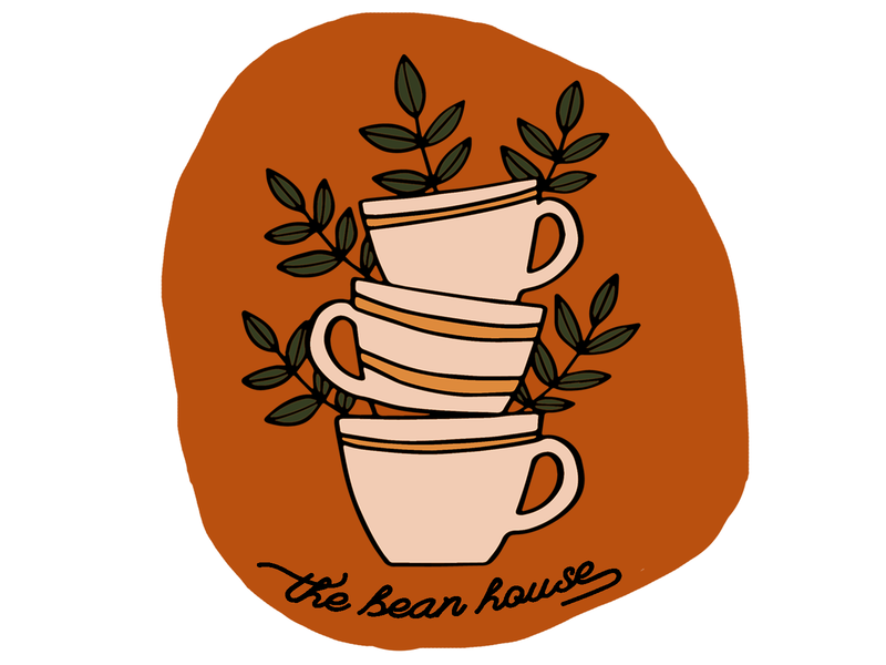 The Bean House Branding Coffee Shop Logo web typography coffeeshop coffee shop icon minimal coffeeshop logo logo flat graphic design design branding