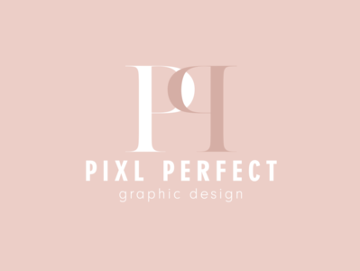 Pixl Perfect Graphic Design Logo type web typography minimal logo icon flat graphic design design branding