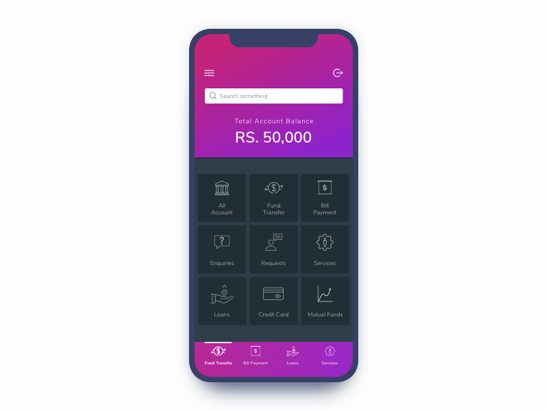 Bank Design Home.Banking App Home Screen Design By Trupti Kadu On Dribbble