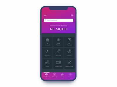 Banking App Home Screen Design by Trupti Kadu - Dribbble