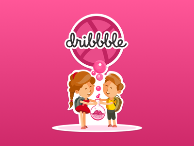 Dribbble design lab sticker