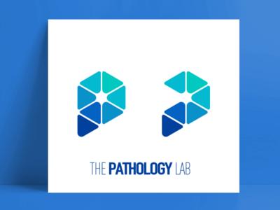 LOGO letter P branding blue logo vi