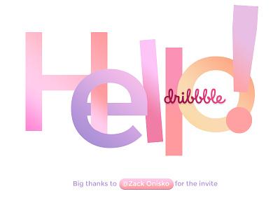 Hello Dribbble! shot first type invite hello