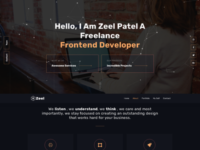 Zeel Patel Resume design wordpress web design